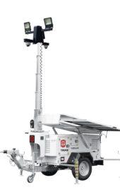 X-Solar mobiele aanhanger cameramast met zonnepanelen