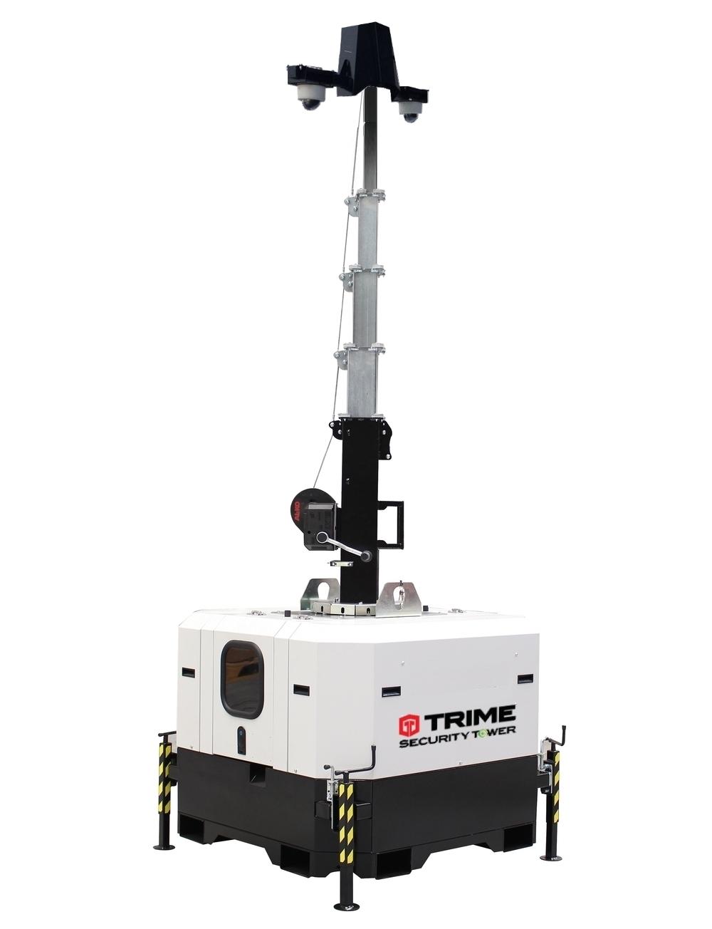 Cameramast met batterijen voor beveiliging