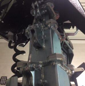 telescopische cameramast met staalkabels