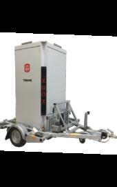 Trime trailer voor cameramast vervoeren